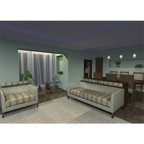 3d Lichtplanung Wohnzimmer 3